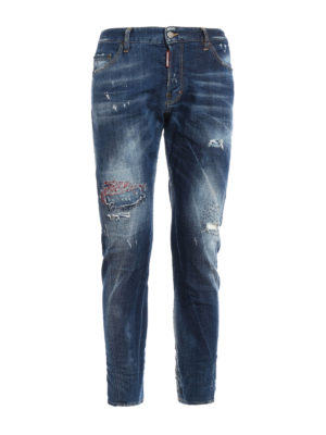 Dsquared2: skinny jeans - Sexy Twist washed distressed jeans