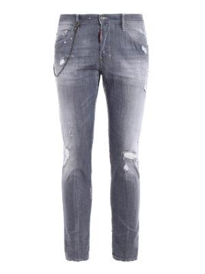 Dsquared2: skinny jeans - Skater tight bottom jeans