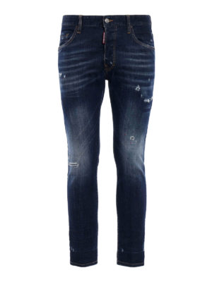 Dsquared2: skinny jeans - Skater used effect jeans