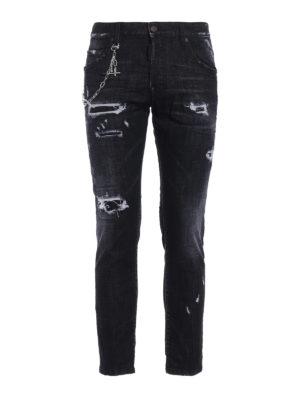 Dsquared2: skinny jeans - Skater used effect skinny jeans