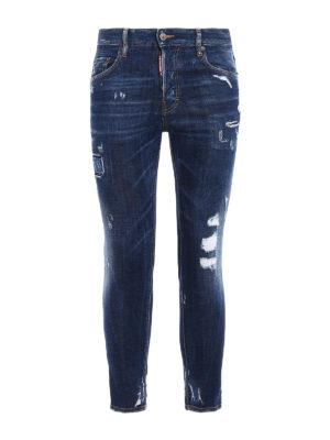 Dsquared2: skinny jeans - Skater worn out denim jeans