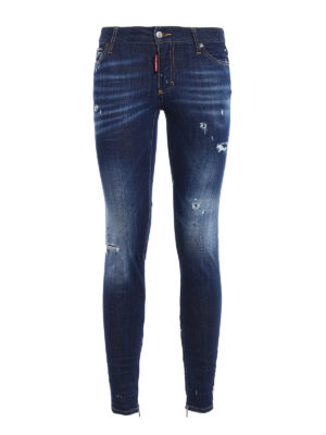 Dsquared2: skinny jeans - Skinny jeans with varnish spots