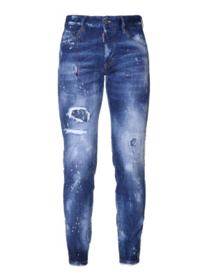 Dsquared2: skinny jeans - Skinny spotted jeans