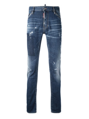 Dsquared2: skinny jeans - Slim faded jeans