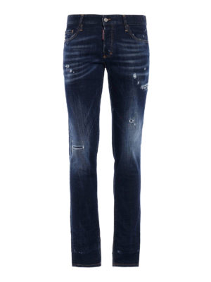 Dsquared2: skinny jeans - Slim used effect jeans