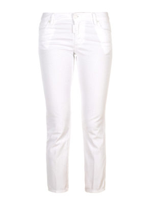 Dsquared2: skinny jeans - Stretch cotton crop jeans