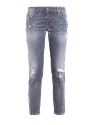 Dsquared2: skinny jeans - Super Skinny grey denim jeans
