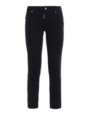 Dsquared2: skinny jeans - Twiggy black denim cropped jeans