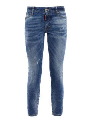 Dsquared2: skinny jeans - Twiggy scraped crop jeans