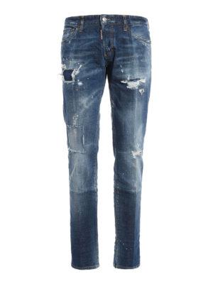 Dsquared2: skinny jeans - Worn out denim Slim jeans