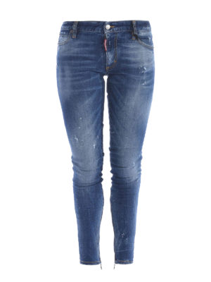 Dsquared2: skinny jeans - Zipped bottom jeans
