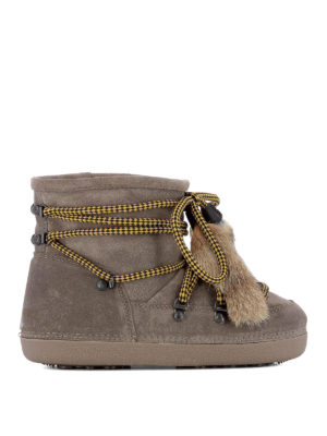 Dsquared2: snow boots - Fur tassels suede snow booties