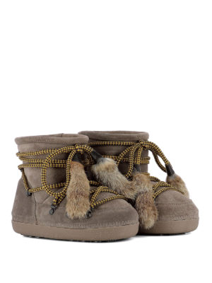 Dsquared2: snow boots online - Fur tassels suede snow booties