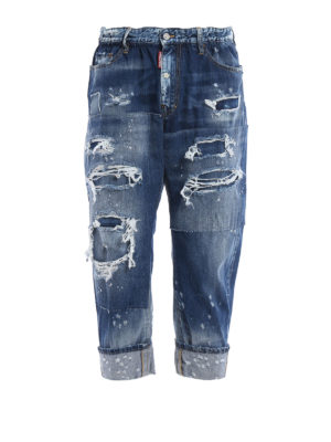 Dsquared2: straight leg jeans - Big Brother ripped jeans