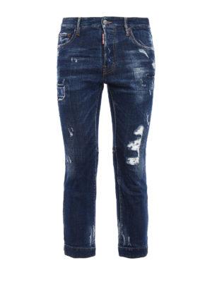 Dsquared2: straight leg jeans - Biker Sky crop jeans