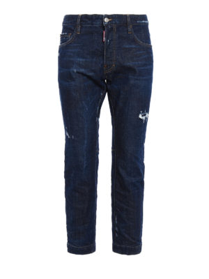 Dsquared2: straight leg jeans - Biker Sky long crotch jeans