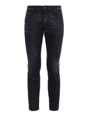 Dsquared2: straight leg jeans - City Biker black denim jeans
