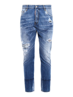 Dsquared2: straight leg jeans - Classic Kenny Twist patch jeans