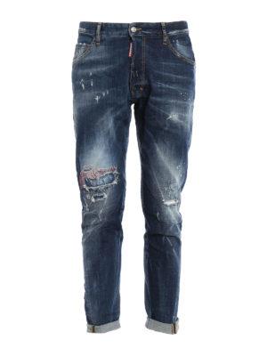 Dsquared2: straight leg jeans - Classic Kenny Twist scraped jeans