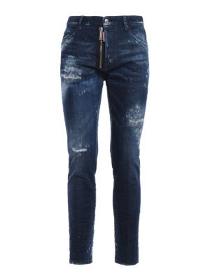 Dsquared2: straight leg jeans - Cool Boy worn out jeans