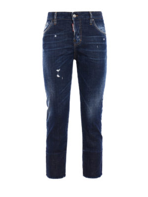 Dsquared2: straight leg jeans - Cool Girl cropped jeans