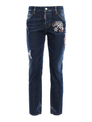 Dsquared2: straight leg jeans - Cool Girl embellished jeans