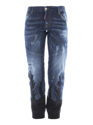 Dsquared2: straight leg jeans - Cool Girl knit bottom jeans