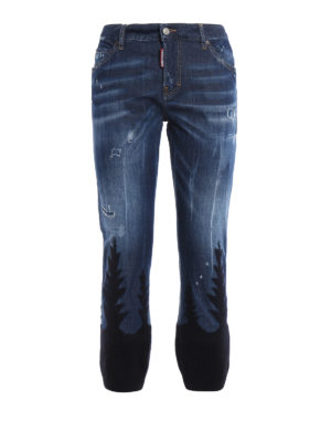 Dsquared2: straight leg jeans - Cool Girl knitted bottom jeans