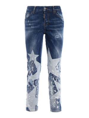 Dsquared2: straight leg jeans - Cool Girl long crotch jeans