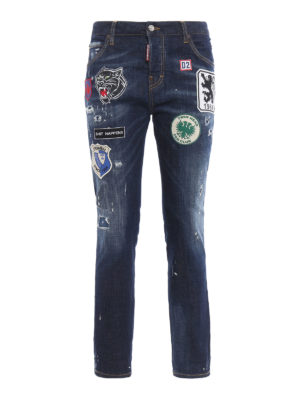 Dsquared2: straight leg jeans - Cool Girl patch jeans