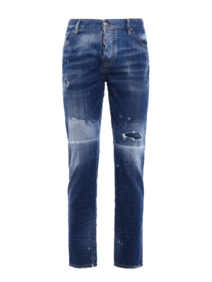Dsquared2: straight leg jeans - Cool Girl used effect jeans