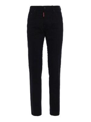 Dsquared2: straight leg jeans - Cool Guy black stretch denim jeans
