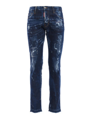 Dsquared2: straight leg jeans - Cool Guy bleached jeans