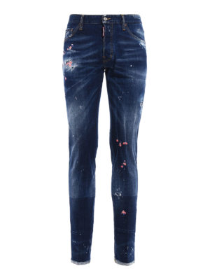 Dsquared2: straight leg jeans - Cool Guy embroidered jeans
