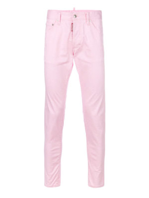 Dsquared2: straight leg jeans - Cool Guy pink stretch cotton jeans