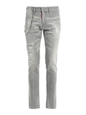 Dsquared2: straight leg jeans - Cool Guy spotted denim jeans