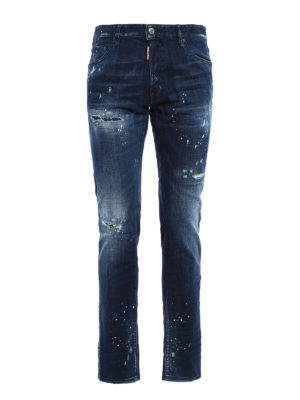 Dsquared2: straight leg jeans - Cool Guy spotted jeans
