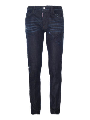 Dsquared2: straight leg jeans - Cool Guy stone washed denim jeans