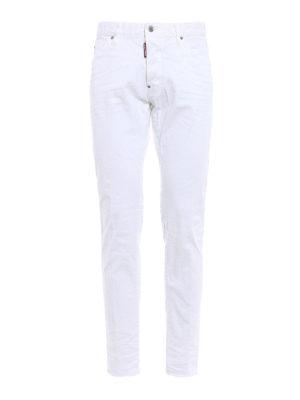 Dsquared2: straight leg jeans - Cool Guy white denim jeans