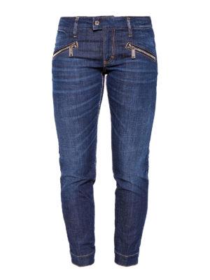 Dsquared2: straight leg jeans - Dark Easy Biker slim jeans