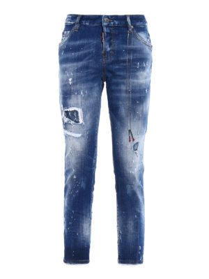 Dsquared2: straight leg jeans - Destroyed effect Cool Girl jeans