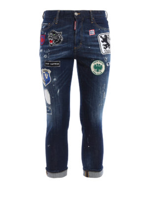 Dsquared2: straight leg jeans - Glam Head jeans