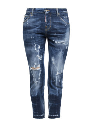 Dsquared2: straight leg jeans - Glam Rock crop jeans