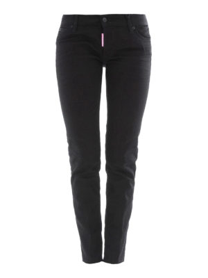 Dsquared2: straight leg jeans - Jennifer black denim jeans