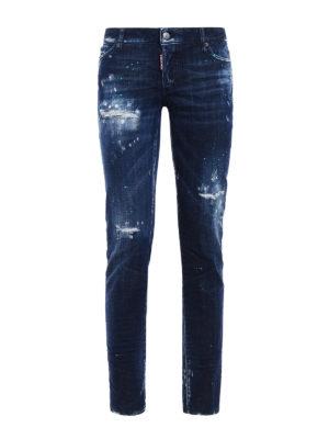 Dsquared2: straight leg jeans - Jennifer bleached jeans