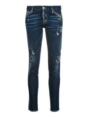 Dsquared2: straight leg jeans - Jennifer used dark wash denim jeans