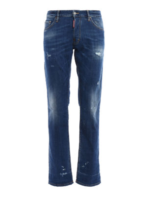 Dsquared2: straight leg jeans - Mac Daddy jeans