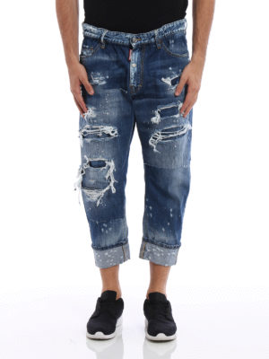 Dsquared2: straight leg jeans online - Big Brother ripped jeans