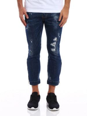 Dsquared2: straight leg jeans online - Biker Sky crop jeans