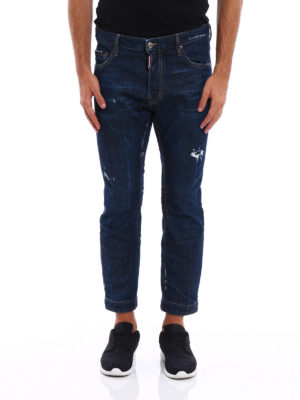 Dsquared2: straight leg jeans online - Biker Sky long crotch jeans